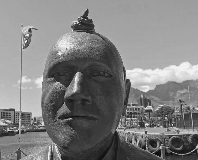 Guerrilla Artists Super Glue A Poo On Head Of Statue