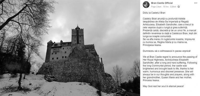 Archduchess Owner Of Dracula Castle Dies