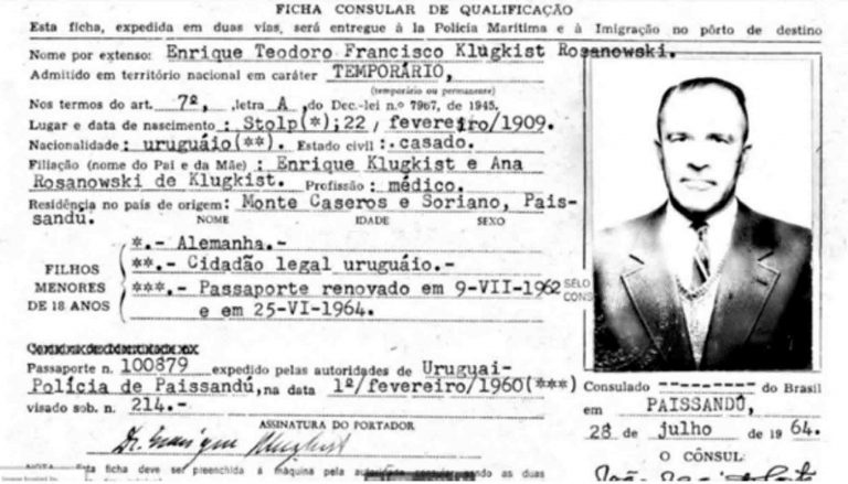 New Evidence Nazi Doctor Death Was In Uruguay After War
