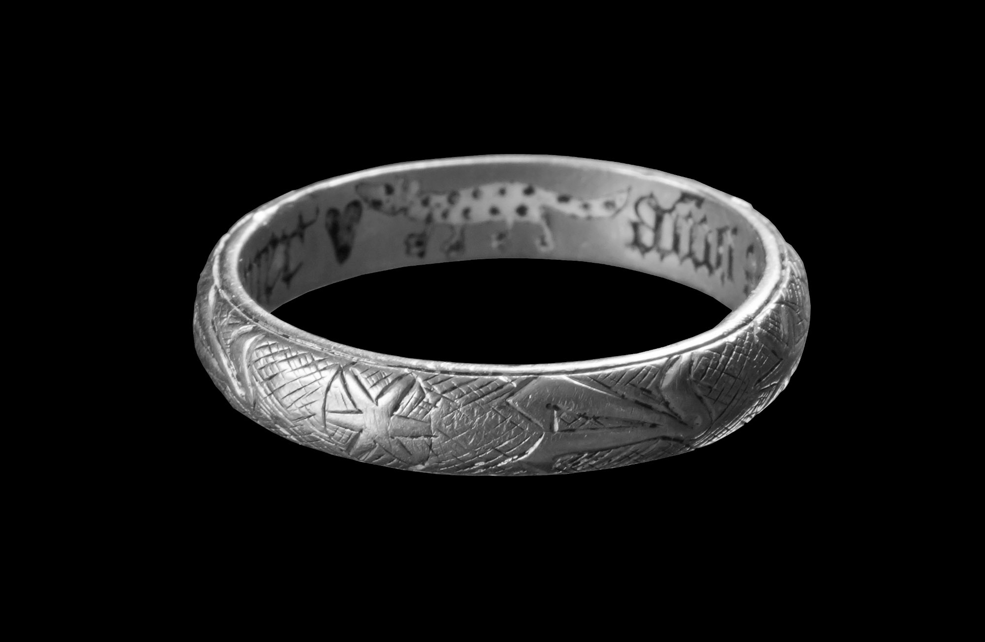 Dutch Bog Had English 14thC Love Ring With Panther Pic