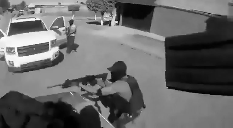 Chest Cam Of Deadly Cartel Shooting Up Rivals Hideout