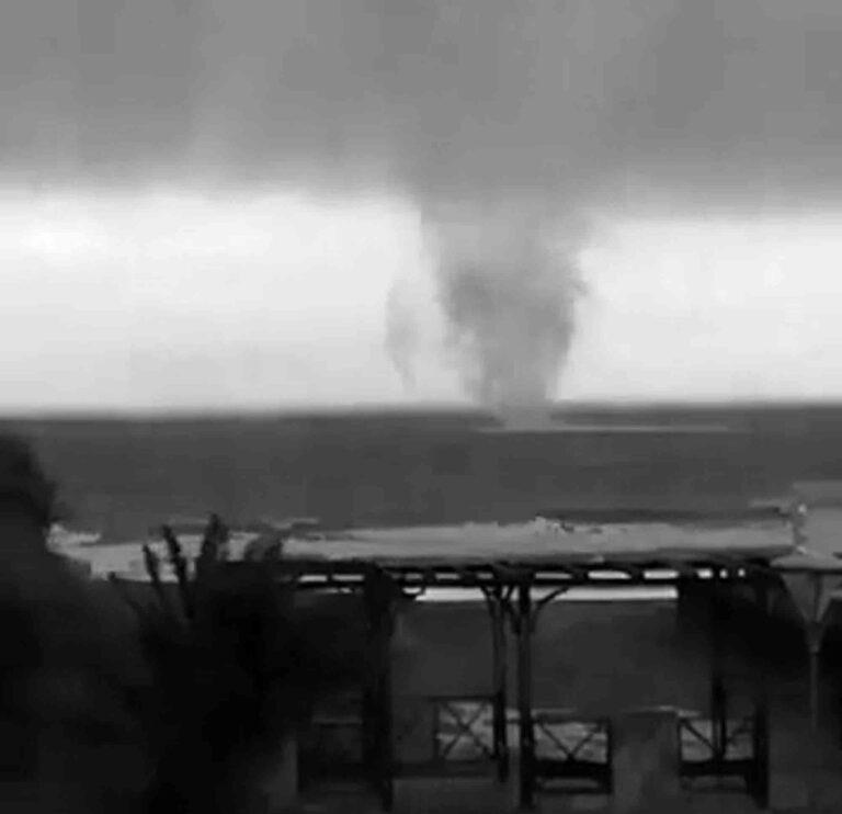 Huge Water Tornado Shocks Locals On Atlantic Coast
