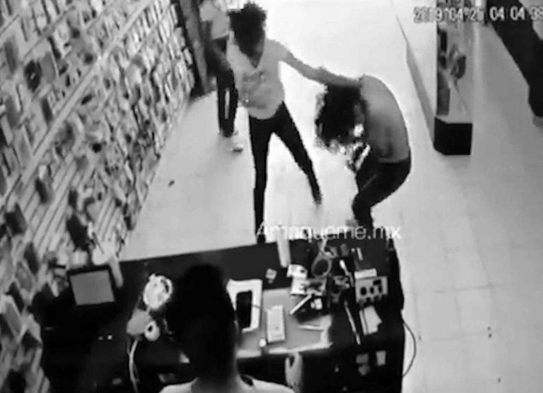Woman Left Topless In Street After Phone Shop Chav Fight