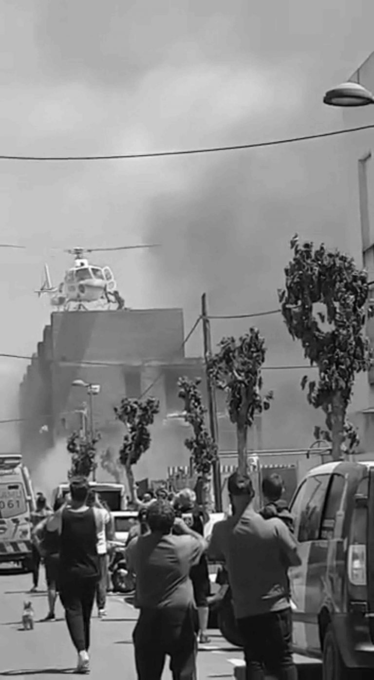 Chopper Saves Couple From Deadly Ibiza Roof Blaze