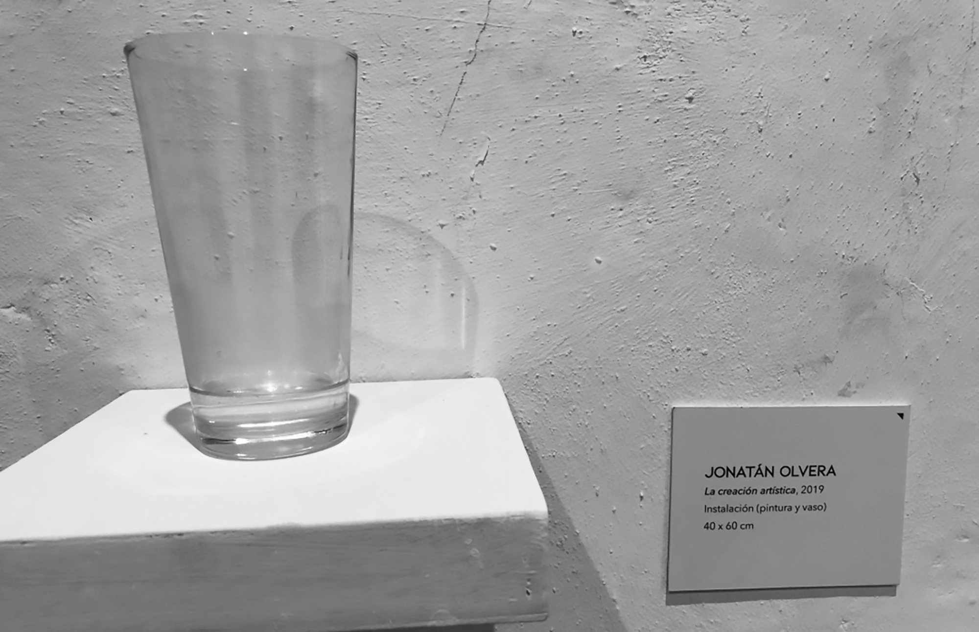 Barmy Artist Slammed For Displaying Glass Of Water