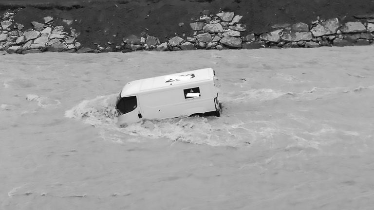 Security Van Packed With Cash Swept Away By River