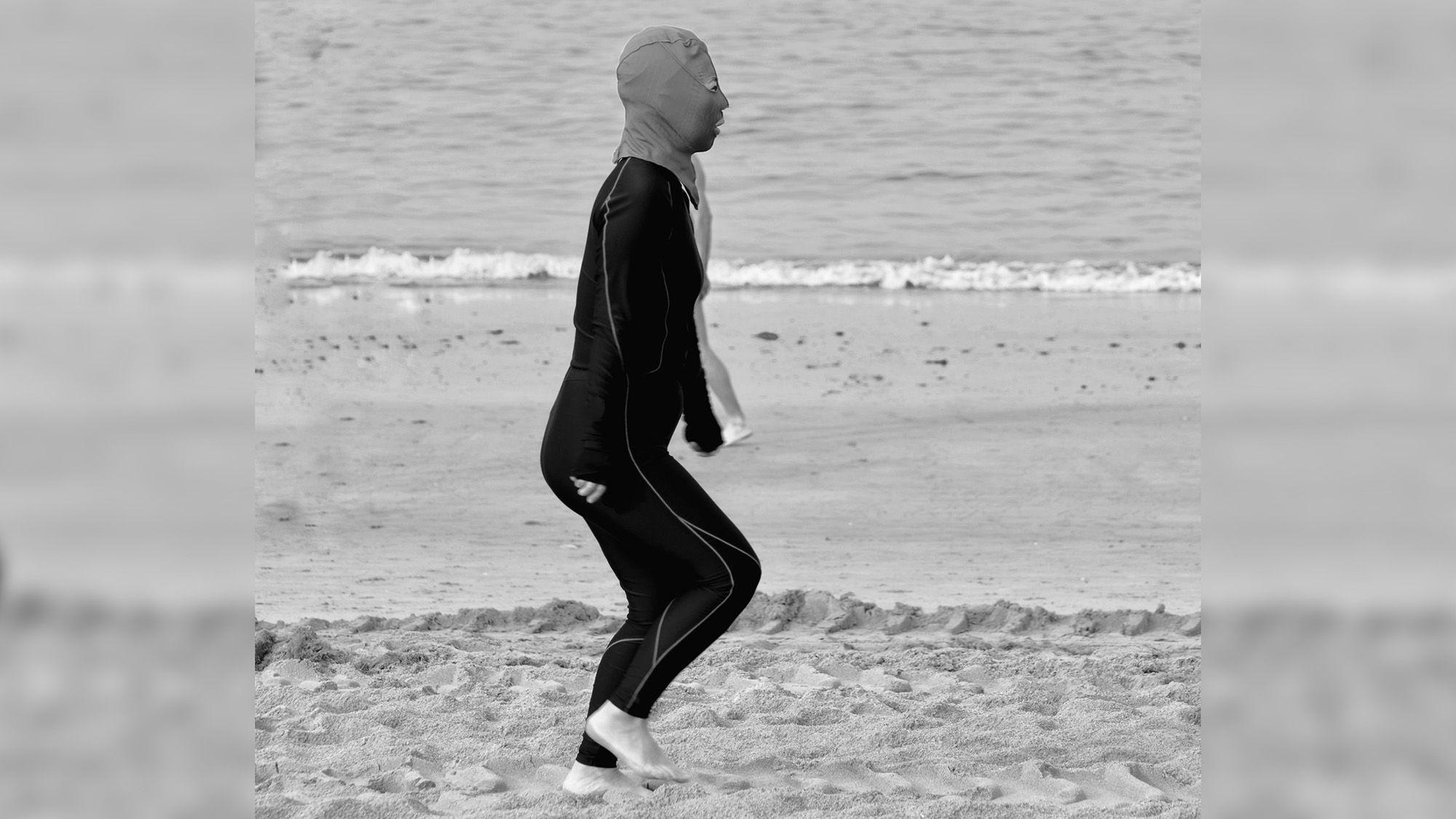 Fashionista Men Hitting Beach In Balaclava Facekinis