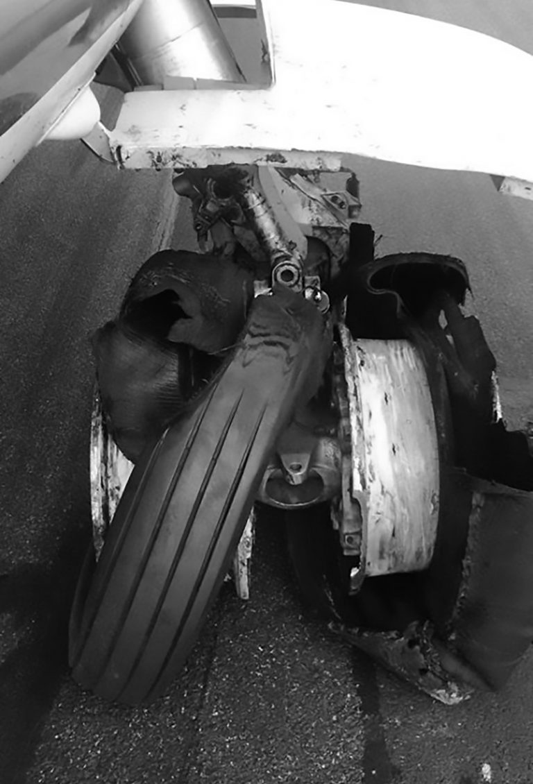 4 Plane Tyres Burst As Passenger Jet Lands On Runway