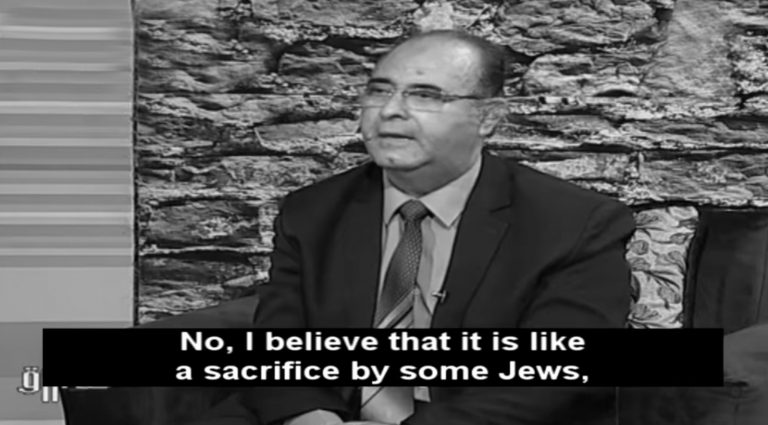 Egyptian Scholar Claims Jews Eat Human Blood On TV
