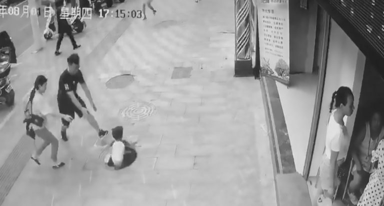 Tot Rescued By Dad After Plunging Down Manhole