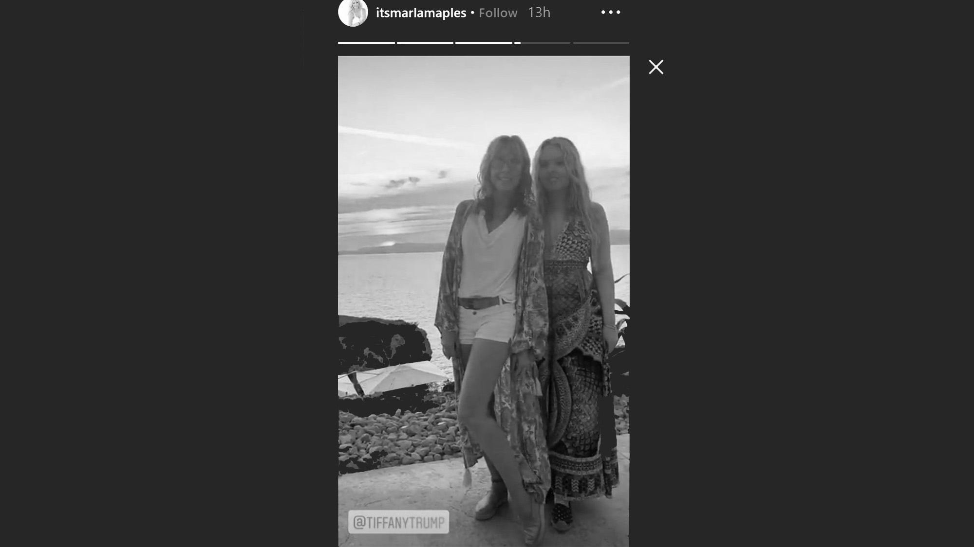 Trumps Daughter And 2nd Wife Snapped In Majorca