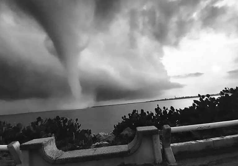 Huge Waterspout Spins Just Off Coast Of Mexican City