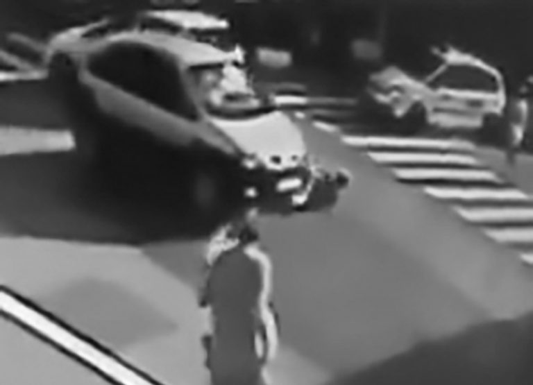 Dad And Baby Run Over At Zebra Crossing At Resort