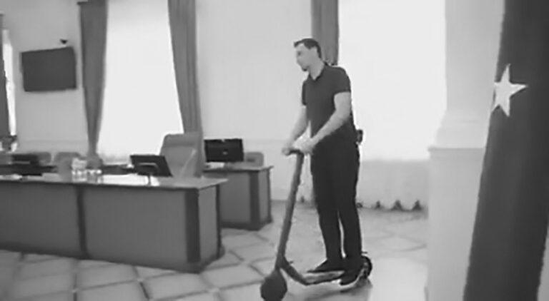 New Ukraine PM Whizzes Around Parliament On Scooter