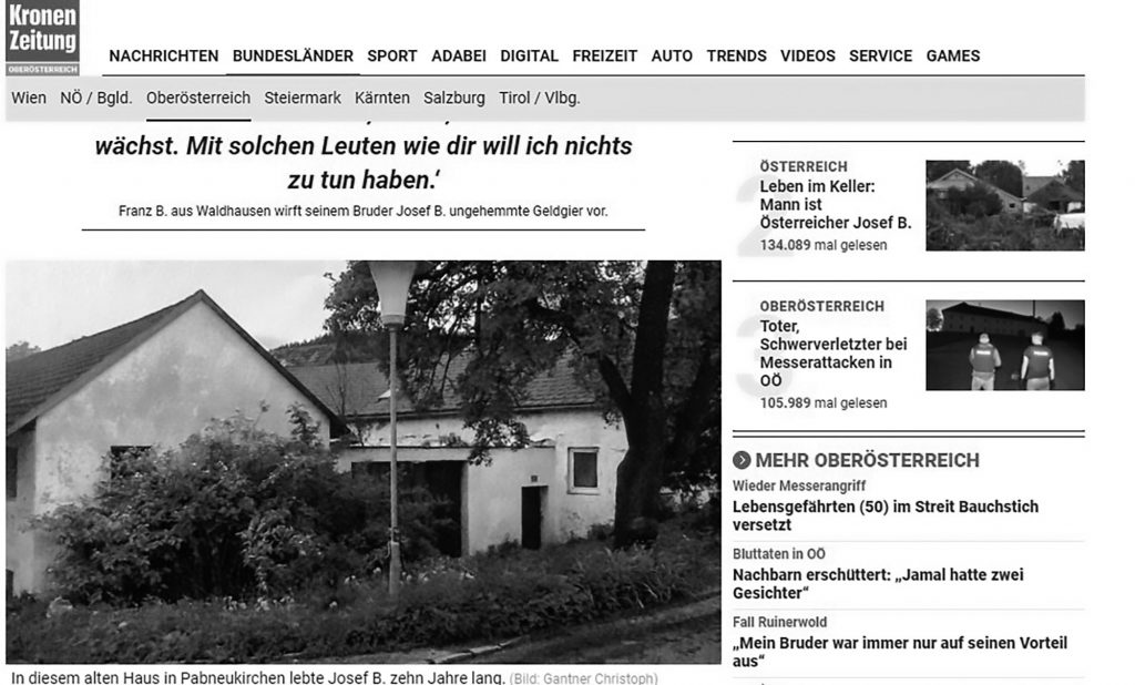 Credit: CEN/ Screenshot Kronen Zeitung