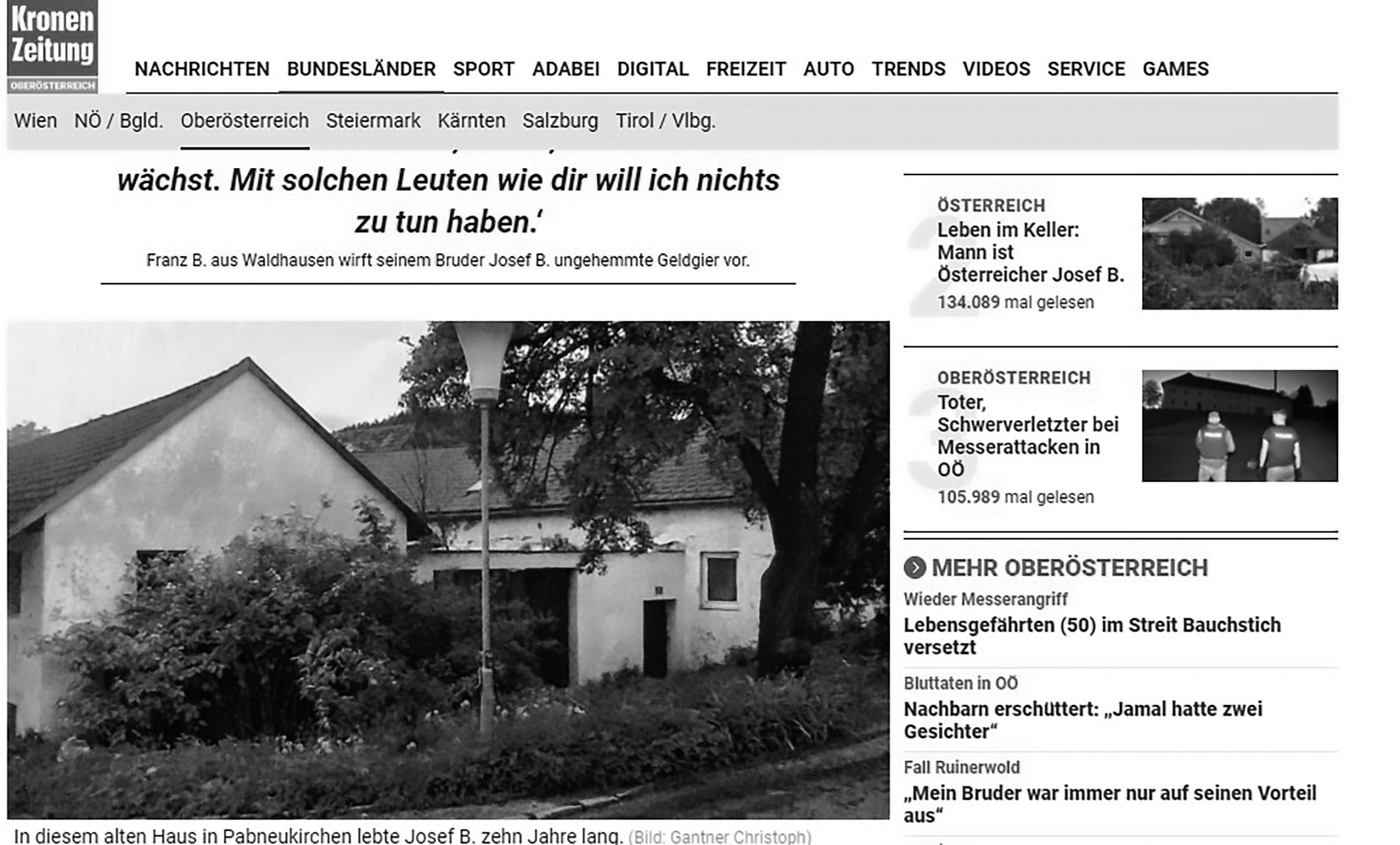 Credit: CEN/ Screenshot Kronen Zeitung