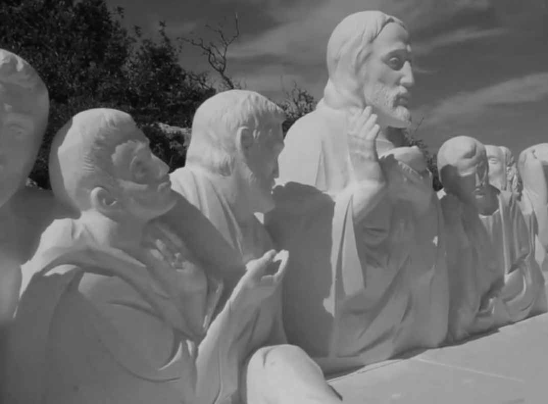 Talented OAP Carves Stunning Christian Scenes On Hill