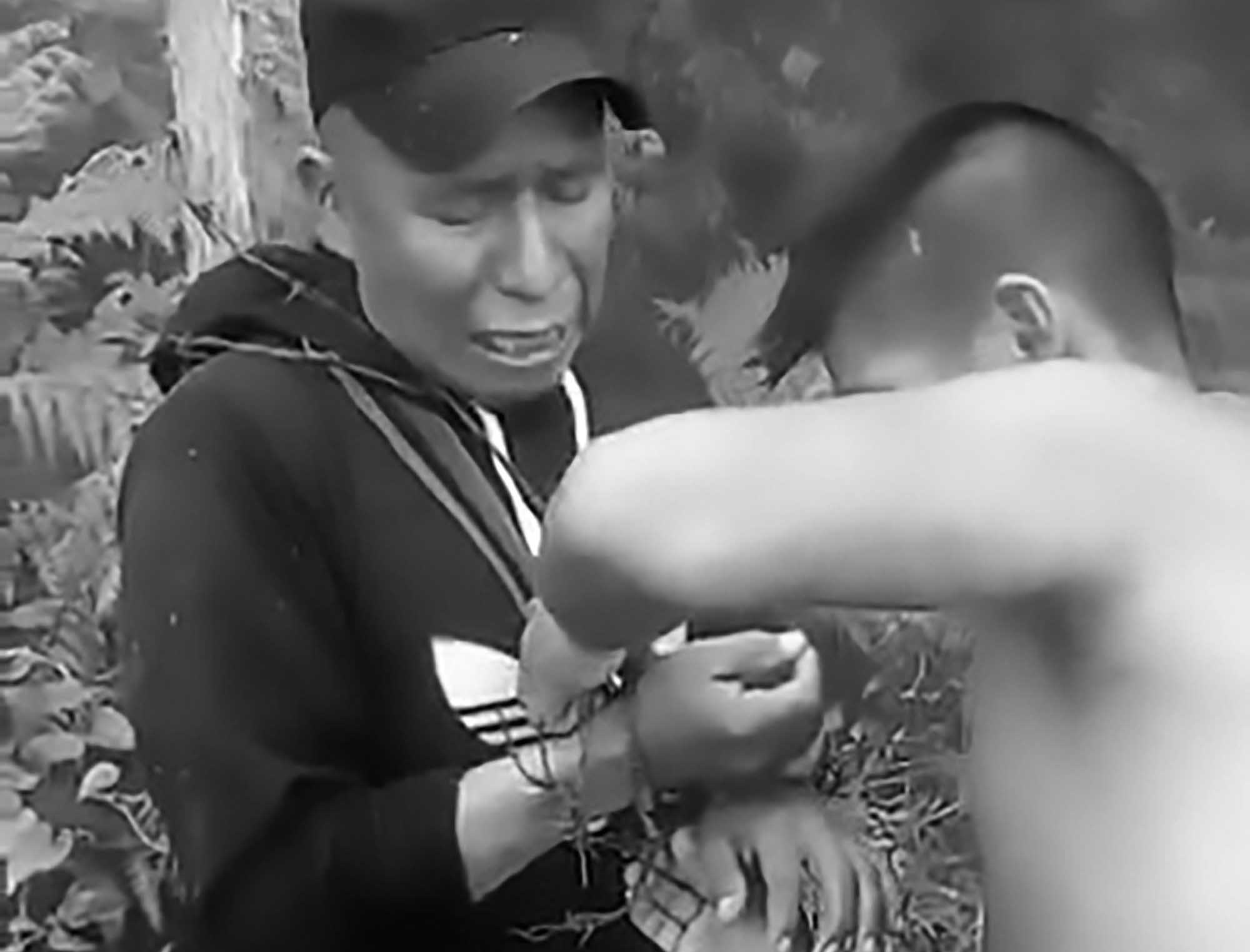 Indigenous Leader Tied Up With Barbed Wire And Tortured